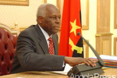 Angolan Head of State, José Eduardo dos Santos newly appointed CPLP leader (file photo).