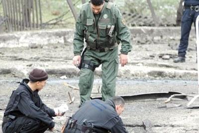 La brigade anti-terrorisme sur les lieux d'un attentat.