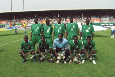 Zambian team at the African Cup of Nations.