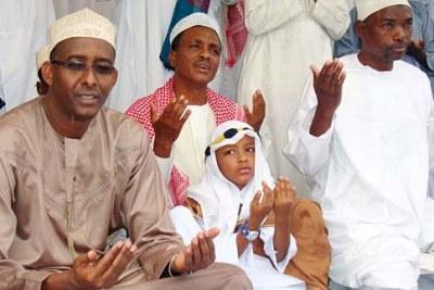 Muslims in Mombasa say prayers for Eid.