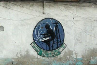 Nitel Nigeria's logo on a wall.