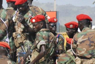 Des soldats soudanais à Juba