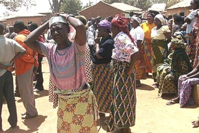 A woman wailing over the killings in Dogon Na Hauwa village in Jos.