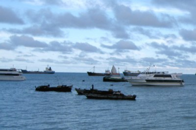 Des bateaux dans l'Océan Indien.