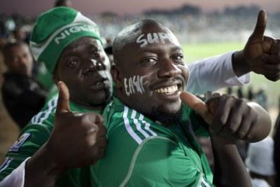 Nigeria football fans (file photo).