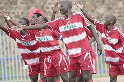 Kenyan squad at the U-20 Cecafa Cup in Eritrea.