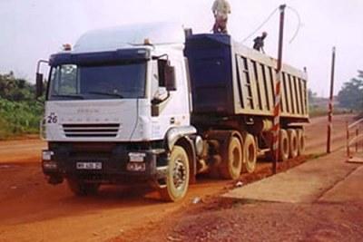 Bauxite Mining Truck in Ghana.