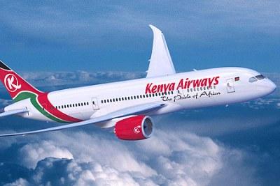 A Kenya Airways flight.