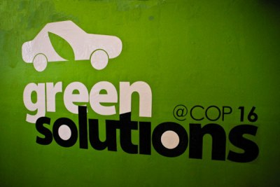 Banner at climate talks (file photo).