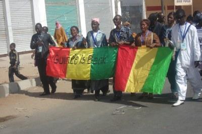 (Photo d'archives).Délégation de Guinée au Forum Social Mondial - Dakar, Sénégal Février 2011