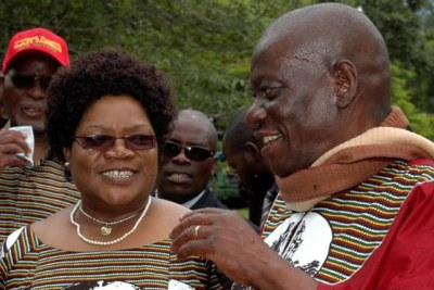 Joice Mujuru with her late husband.