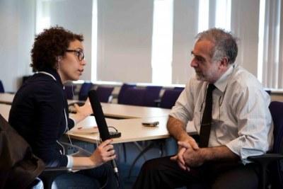 Interview de Moreno Ocampo par Cíntia Taylor de RNW .