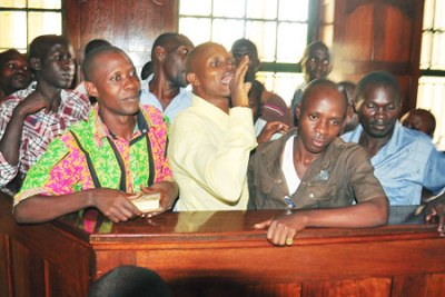 The eleven suspects of the 2009 Buganda riots: The judge said the prosecution failed to adduce incriminating evidence before the court against the accused.