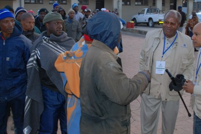 Basotho voters at the 2012 polls which brought the current government to power.