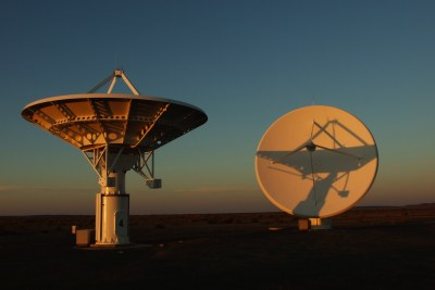 A portion of the Karoo Array Telescope - known as KAT-7.