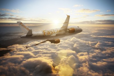 An artist's impression of a Fastjet Airbus.