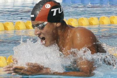 (Photo d'archives) Oussama Mellouli médaillé de bronze du 1500m libre en Natation aux JO Londres 2012