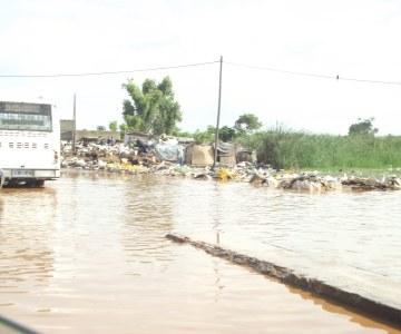 La banlieue dakaroise sous les eaux