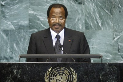 Cameroon's President Paul Biya addresses the United Nations (file photo).