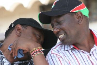 Uhuru Kenyatta et William Ruto.