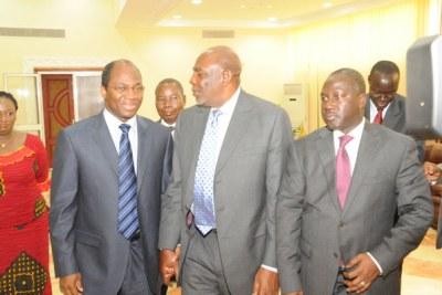 Cheikh Modibo Diarra et la délégation de la CEDEAO