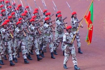 Soldats érythréens.