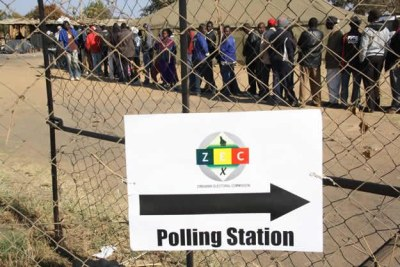 Voters queuing to cast their ballots (file photo).