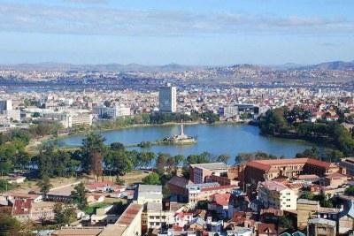 Lac Anosy au centre d' Antananarivo, capitale de Madagascar.