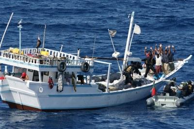Boarding a pirate vessel