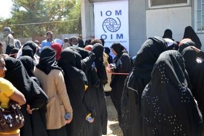 Ethiopian migrants from Saudi Arabia (file photo).