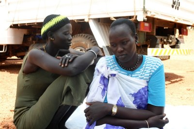 Women at the UNMISS base in Rumbek, Lakes State, South Sudan.