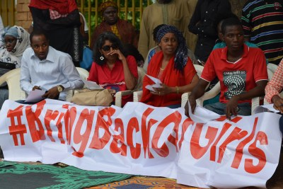 #BringBackOurGirls movement during a sit-down protest in Abuja (file photo).