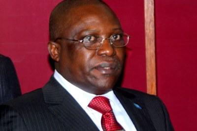 Abbé Jean Bosco Bahala Okw'Ibale, président du Conseil Supérieur de l'Audiovisuel et de la Communication(CSAC) le 22/06/2012 à Kinshasa.