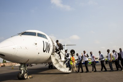 West African health workers in Accra head for the three worst-aftected countries to help out.