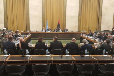 Participants at the latest round of the United Nations facilitated Libyan political dialogue.