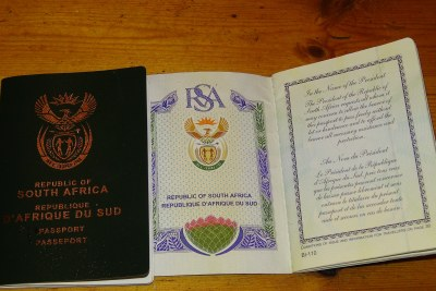 South African passport.