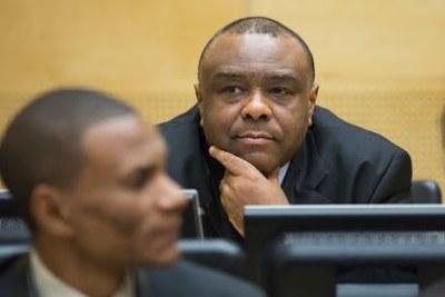 L'ancien vice-président de la RDC, Jean-Pierre Bemba, lors de l'ouverture de son procès pour subordination de témoins le 29 septembre 2015 à la CPI