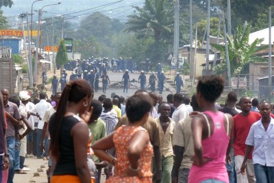 Manifestations in Bujumbura (file photo)