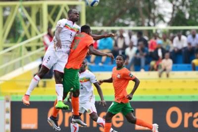 Mali versus Zambia during  2016 CHAN in Rwanda.