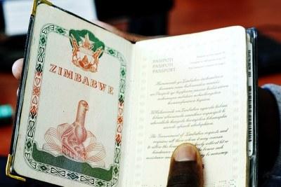 A Zimbabwean passport (file photo).