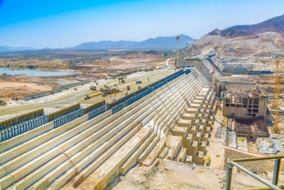 Grand Ethiopian Renaissance Dam under construction (file photo).