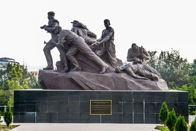 The statue depicting the valour and heroism that was manifested during 1994 Genocide against the Tutsi by Rwandan Patriotic Front (now Rwanda Defence Force) soldiers (file photo).