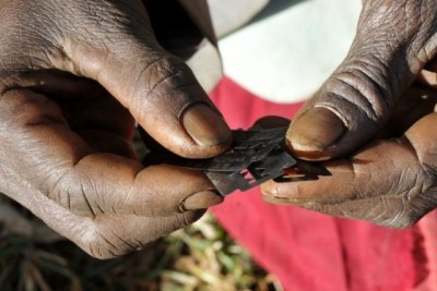 Female Genital Mutilation (FGM) practised on women and girls in some tribes in Africa.