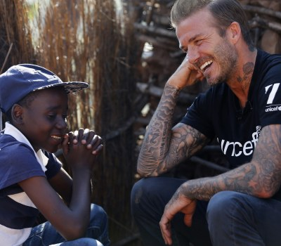 UNICEF Goodwill Ambassador David Beckham Visits Swaziland to Focus Attention on Children