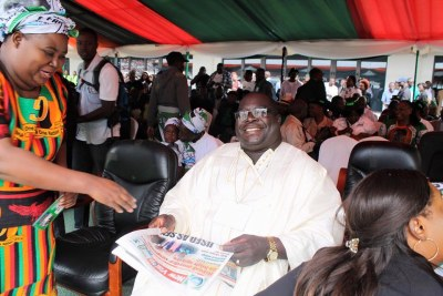 Chishimba Kambwili, before he was expelled from the ruling Patriotic Front.