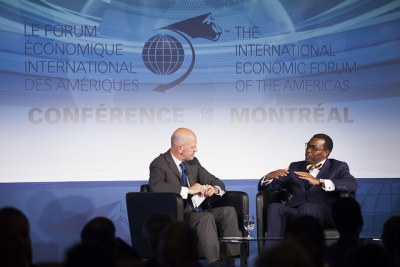 African Development Bank Group President Akinwumi Adesina brought Africa to the Americas, and the AfDB to Canada, as the co-chair of the 22nd International Economic Forum of the Americas - Conference of Montreal.