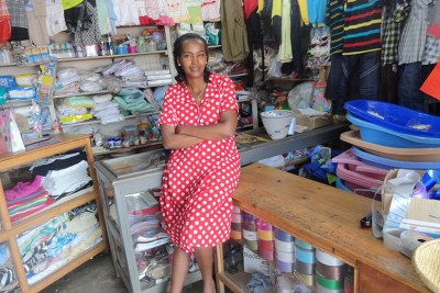 Lawyer-turned-businesswoman Meledah Twahira in her shop (file photo).