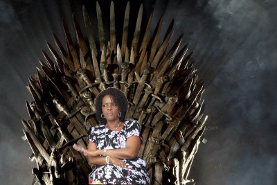 Good old days - Former first lady Grace Mugabe on the Iron Throne (file photo).