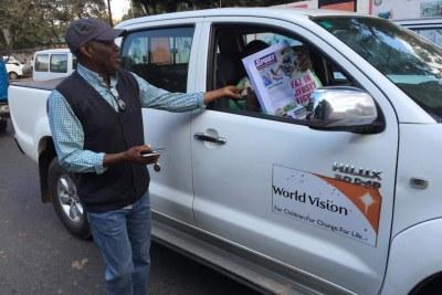 Zambian newspaper publisher Fred M'memba