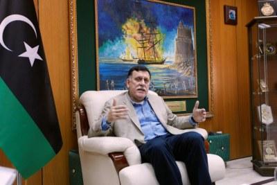 Le Premier ministre du gouvernement libyen d'union nationale Fayez al-Sarraj,
